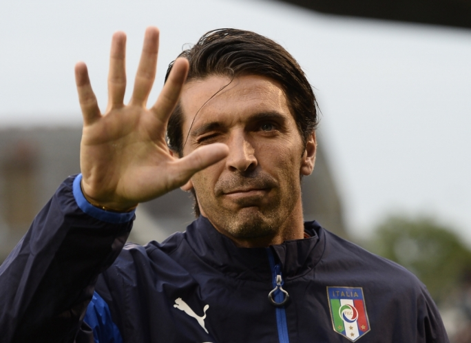 Italy's captain Gianluigi Buffon