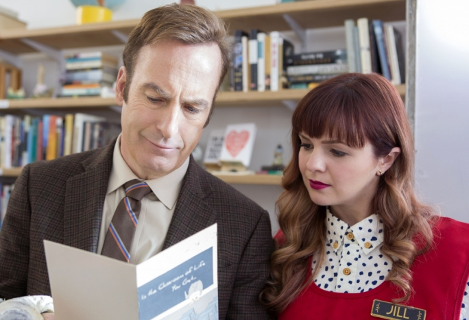 Card-carriers: Bob Odenkirk and Amber Tamblyn in Netflix's Girlfriend's Day
