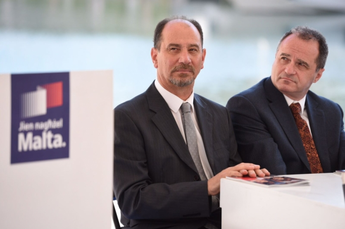 Partit Demokratiku MP Godfrey Farrugia (left)