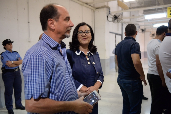 PD candidate Godfrey Farrugia with his partner and MP Marlene Farrugia. Photo: James Bianchi/MediaToday