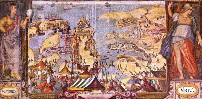 One of 12 paintings known as the D'Aleccio cycle depicting the Great Siege of 1565 (Photo: Daniel Cilia)