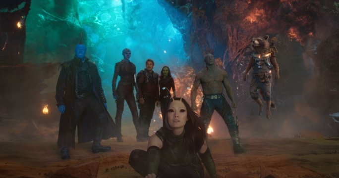 The a-holes return: the self-declared Guardians of the Galaxy strike a pose amid a conclusion replete with CGI noise and nonsense