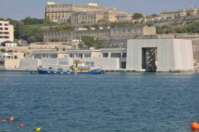 "The Chamber of Architects referred to the AFM maritime base as ""the scar on the Valletta seafront"""
