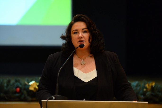 Helena Dalli at the launch of the Integration Charter
