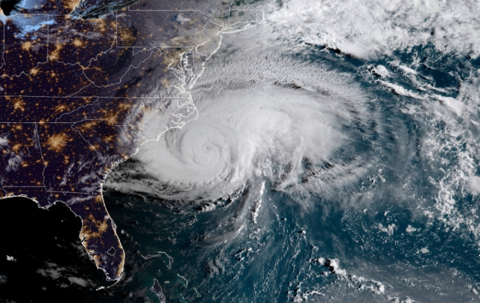 Hurricane Florence off the eastern coast of the United States (NOAA)