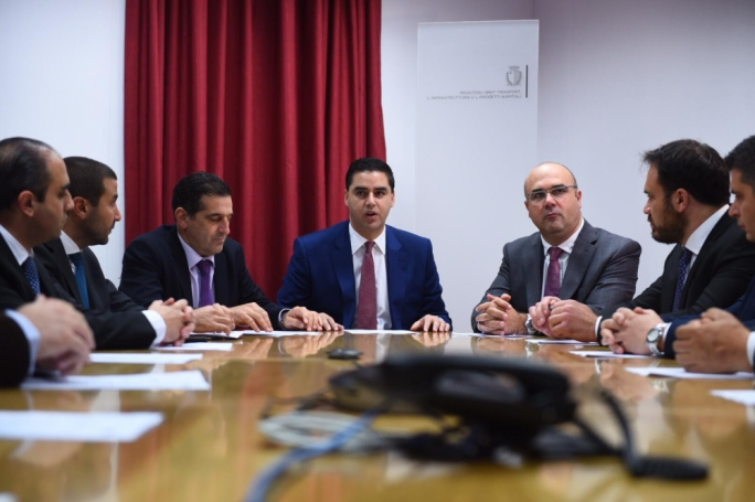 Infrastructure Minister Ian Borg was presented the proposals for the creation of affordable dwellings by the Malta Developers Association