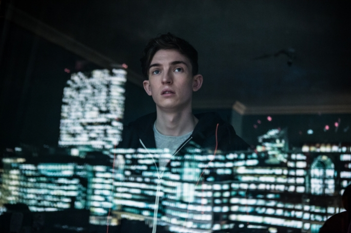 Screams of the city: Tom (Bill Milner) finds himself plugged into London's mobile network after being attacked by thugs in this formulaic but serviceable offering from Netflix