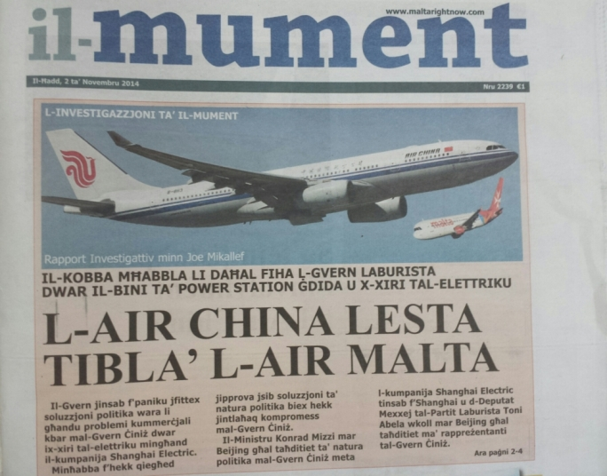 Tourism minister dismisses 'false' reports on Air Malta's China takeover