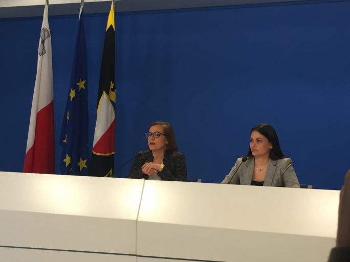 PN executive committee president Ann Fenech (left) and electoral candidate Alessia Psaila Zammit