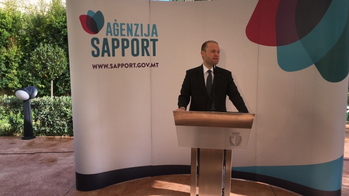 Joseph Muscat announcing the opening of Villa Bologna