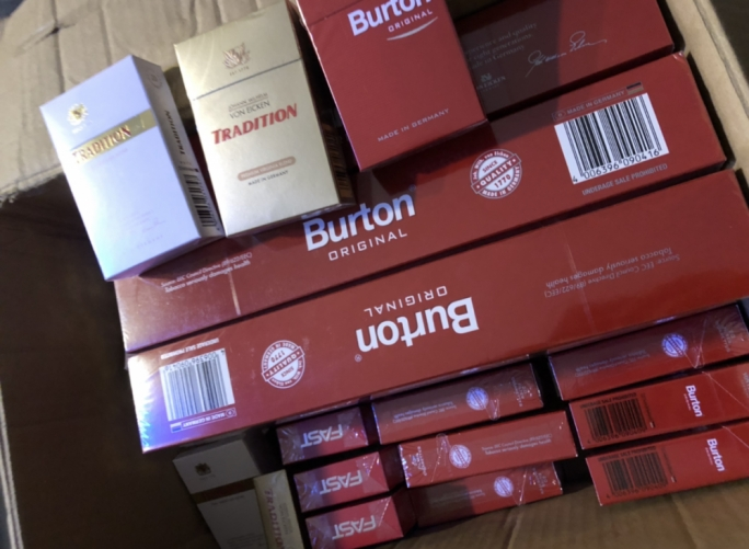 1,700 contraband cigarettes seized by Customs