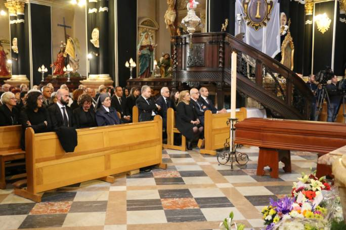The country's highest dignitaries paid their last respects to Charles Miceli