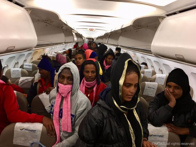 74 vulnerable refugees evacuated from Libya in MOAS' first aerial mission