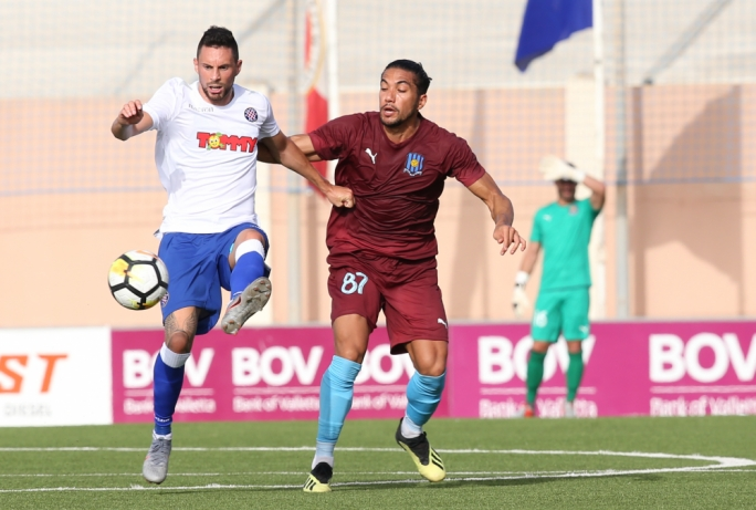 A goal in each half condemn Gzira to a 2-0 defeat at the hands of Hajduk Split