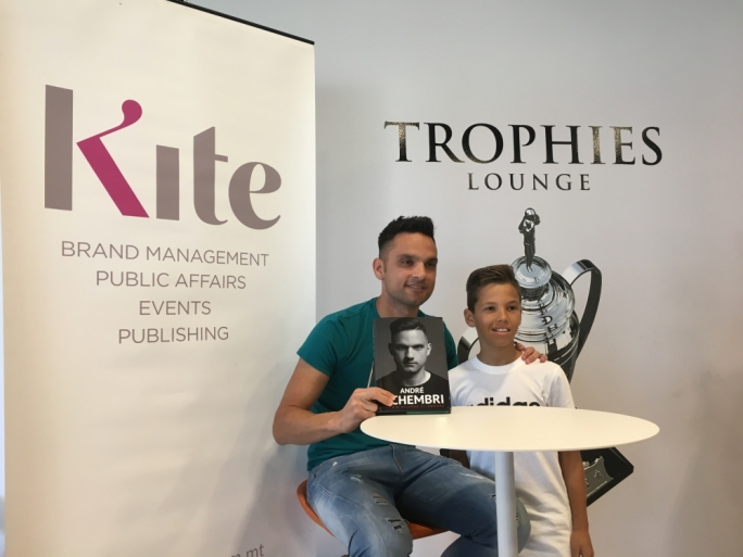 The book signing was held at the Malta Football Association's Trophy Lounge this morning