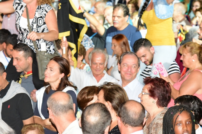 Former PN leader and prime minister Lawrence Gonzi in the crowd on the granaries (Photo: Ivan Consiglio)