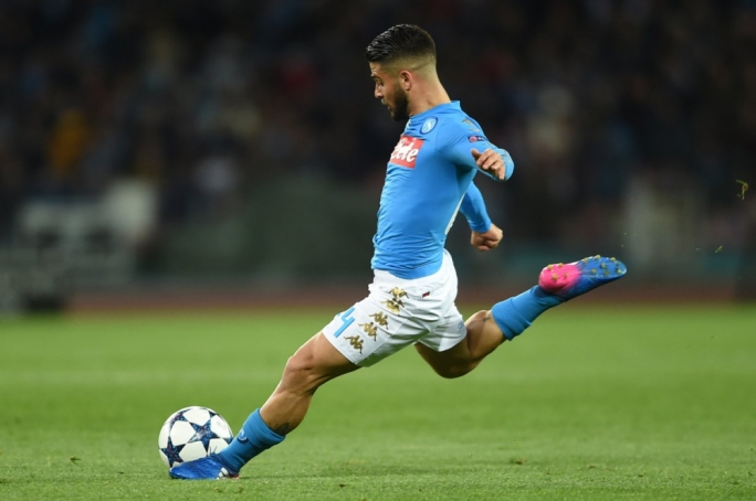 Lorenzo Insigne of Napoli in action