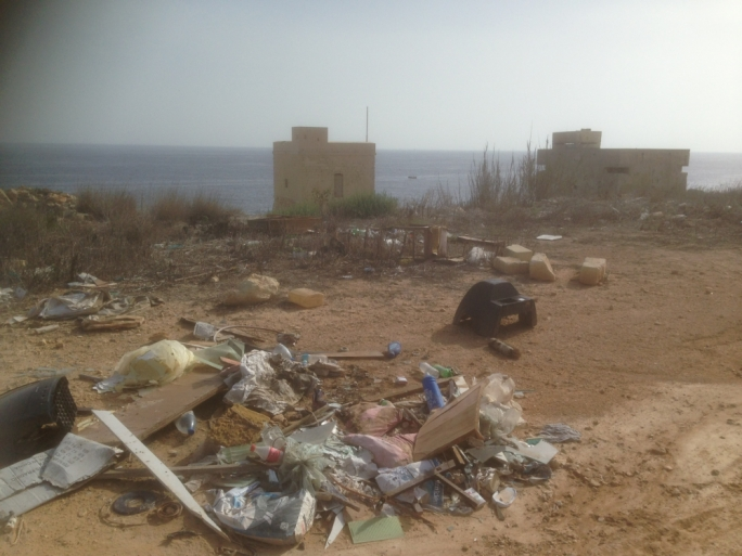 The site has often been and still is the target of the dumping of waste and debris - Ramblers' Association