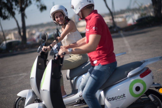 An electric motorbike sharing service, Ioscoot, is going to be launched in Malta