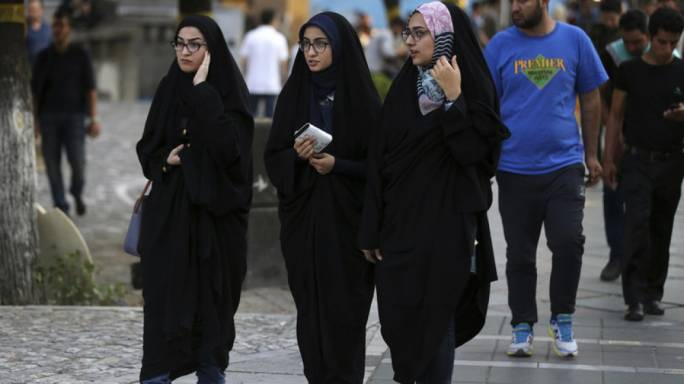 In Iran, all women, Iranian or foreign, Muslim or non-Muslim, must be fully veiled in public at all time