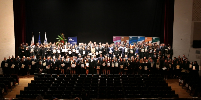 The graduation ceremony, held on 3 December at the MCC in Valletta