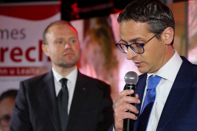 James Grech (right) with Joseph Muscat