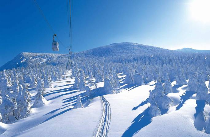 Three quarters of the countries landmass is covered in mountains making Japan an ideal destination for avid skiers