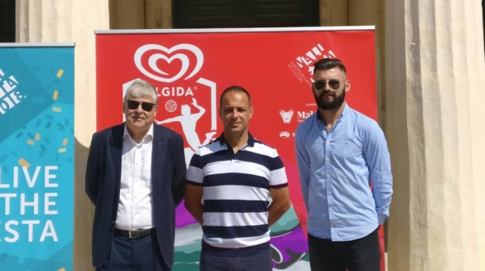 This morning's launch of the Algida Valletta Beach Volley in the City.  (Photo: Valletta 2018)