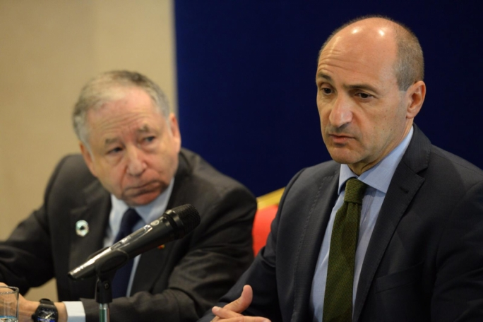 UN special envoy Jean Todt (left) with Deputy Prime Minister Chris Fearne