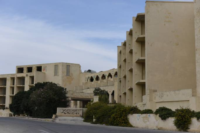 The Jerma hotel is now a derelict building which Marsascala local council described as very dangerous in a terrible state as a new enforcement order is yet to be issued to developers