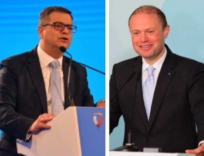 Election race is a choice between leaders for Joseph Muscat, not so for Adrian Delia