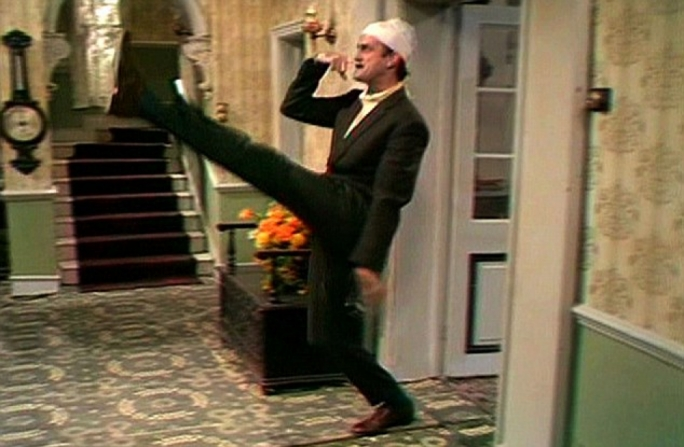 Problematic favorite: John Cleese, from the widely popular Fawlty Towers, in the role of an unstable Basil Fawlty going full Jerry on his hotel's tourists