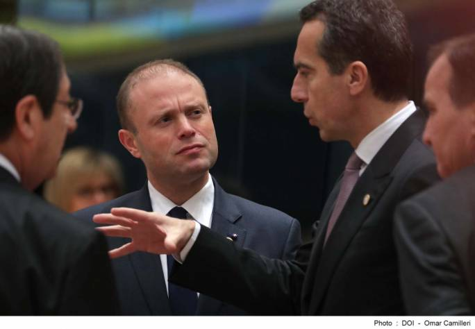 Prime Minister Joseph Muscat is in Brussels for a summit of EU leaders that is expected to give the green light for Brexit talks to move forward to next stage | Photo: DOI, Omar Camilleri