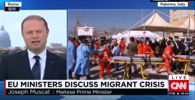 Muscat on CNN: Only securitisation of Libya can stop migrants' deaths