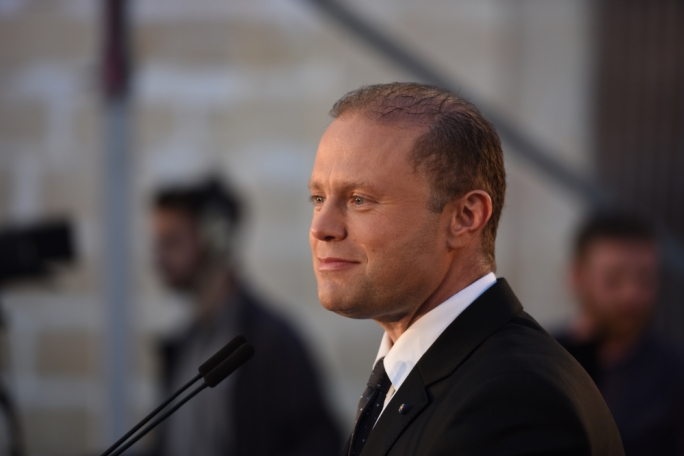 Labour leader Joseph Muscat addresses Zurrieq rally (Photo: James Bianchi/MediaToday)