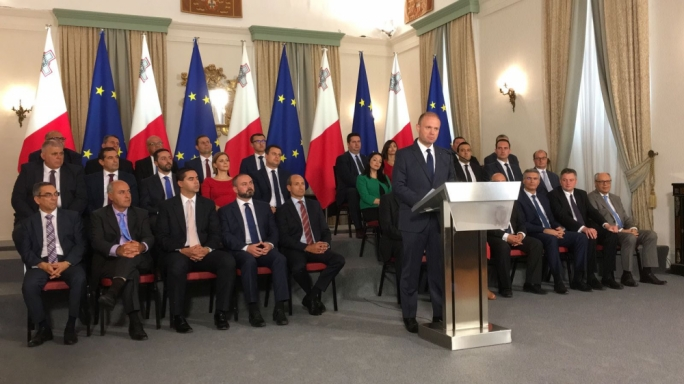 Prime Minister Joseph Muscat announcing the conclusions of the Egrant inquiry last month