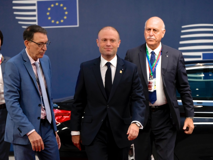Maltese Prime Minister Joseph Muscat arriving at the European Council on Tuesday (Photo: EU)