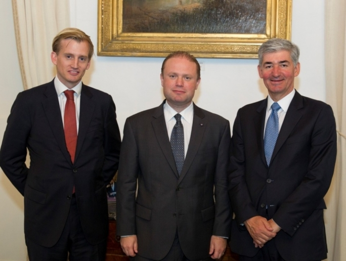 HSBC Europe chairman meets Prime Minister while in Malta