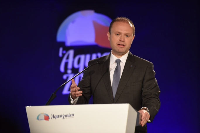 Labour leader Joseph Muscat launches his party's priorities for a future Labour government (Photo: James Bianchi/MediaToday)