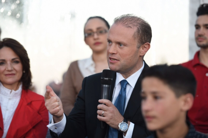 Labour leader Joseph Muscat on Pjazza (Photo: James Bianchi/MediaToday)