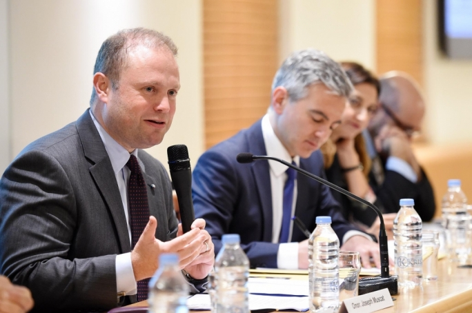 Prime Minister Joseph Muscat and Opposition leader Simon Busuttil