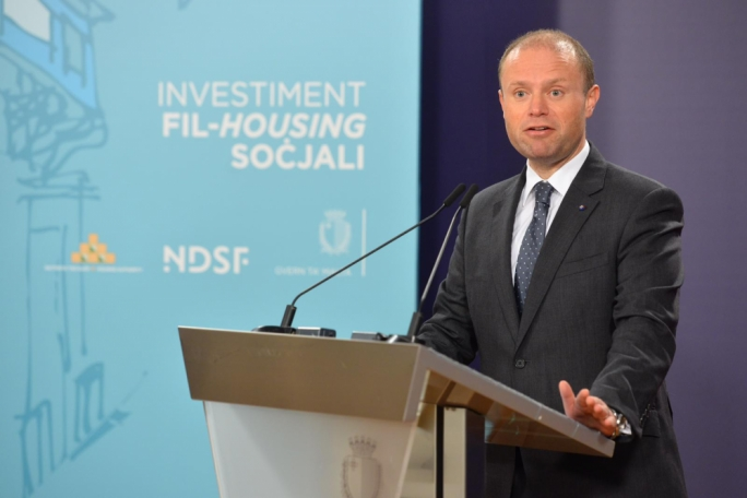 Upward and mobile: Joseph Muscat's Labour government's middle class oriented ideology wants to tackle the sense of entitlement of social housing applicants. (Photo: James Bianchi/MediaToday)