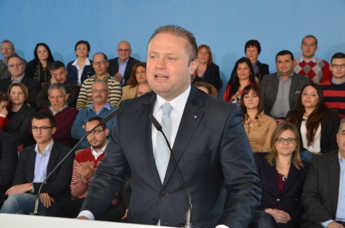 Prime Minister Joseph Muscat addressing Sunday's political activity at Zurrieq