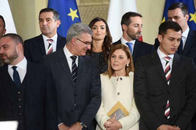 It's not all bad, right? Owen Bonnici (left) gets education, Chris Agius stays in place under transport minister Ian Borg, Carmelo Abela moves from foreign to a less onerous portfolio, Rosianne Cutajar elevated to equality and reforms secretary, Justyne Caruana retains Gozo, and Alex Muscat gets the citizenship brief