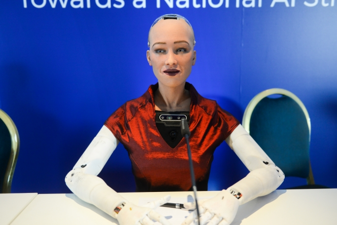 [WATCH] Humanoid robot Sophia happy to be in Malta but isn't too sure how old she is