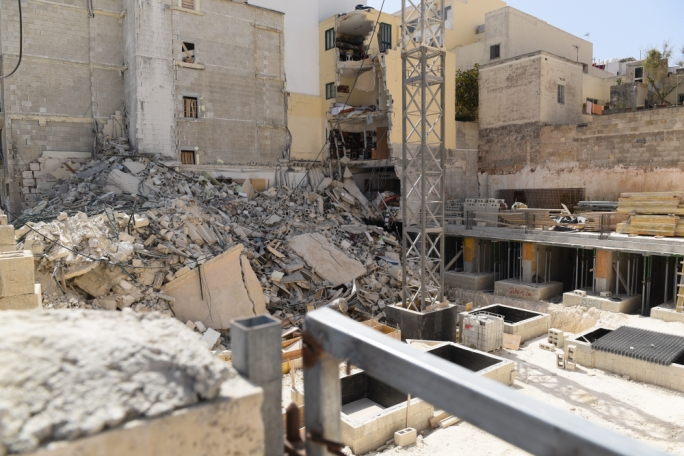 On Saturday 8 June, a building collapsed in Mellieha