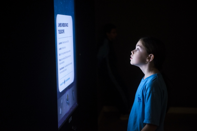 The awesomeness of space enthralled students at Esplora (Photo: James Bianchi/MediaToday)