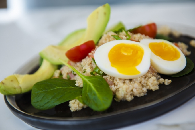 Quinoa, avocado and egg salad
