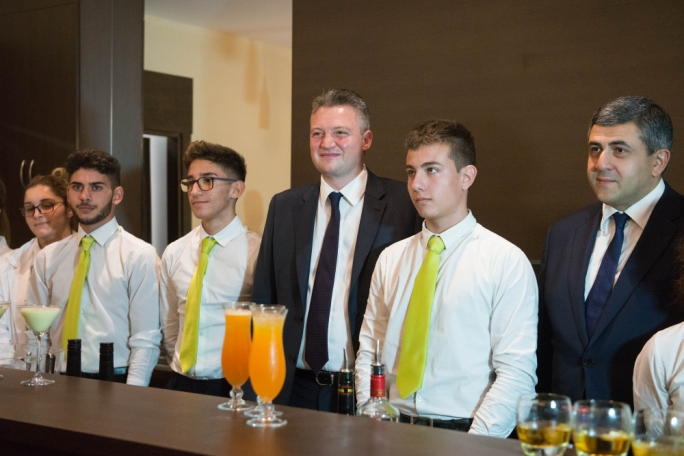 Tourism minister Konrad Mizzi with ITS students (Photo: James Bianchi/MediaToday)