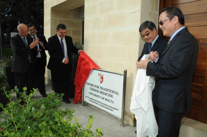 University rector Juanito Camilleri inaugurate the Centre for Traditional Chinese Medicine in November